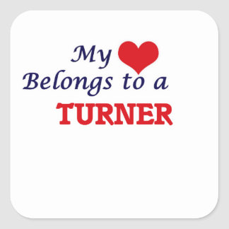 My heart belongs to a Turner Square Sticker