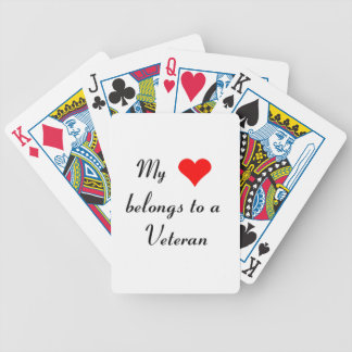 """""""My Heart Belongs to a Veteran"""" Bicycle Playing Cards"""
