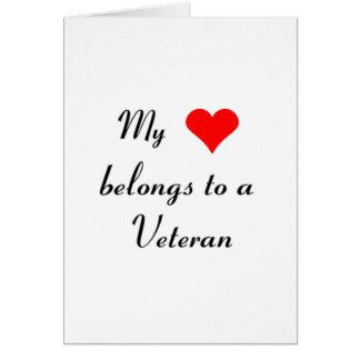 """My Heart Belongs to a Veteran"" Card"
