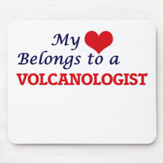 My heart belongs to a Volcanologist Mouse Pad