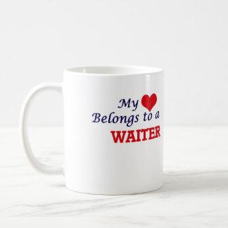 My heart belongs to a Waiter Coffee Mug