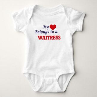 My heart belongs to a Waitress Baby Bodysuit