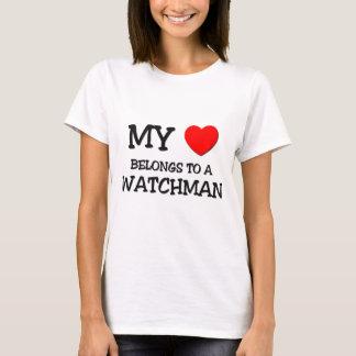 My Heart Belongs To A WATCHMAN T-Shirt