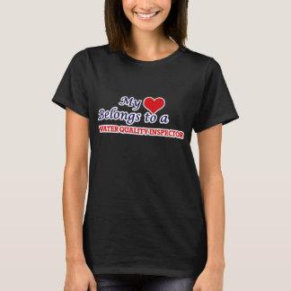 My heart belongs to a Water Quality Inspector T-Shirt