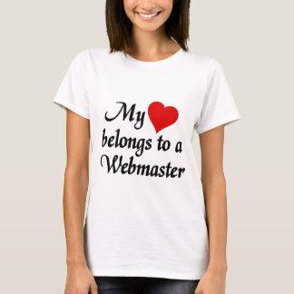 My heart belongs to a Webmaster T-Shirt