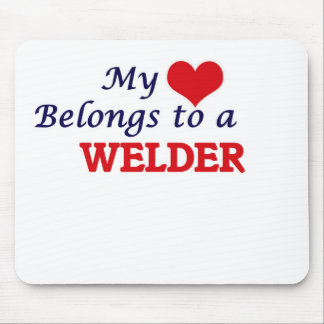 My heart belongs to a Welder Mouse Pad