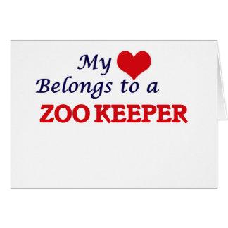 My heart belongs to a Zoo Keeper Card