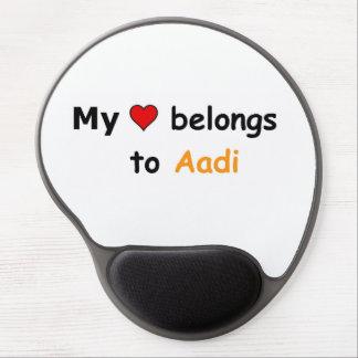 My heart belongs to Aadi Gel Mouse Pad