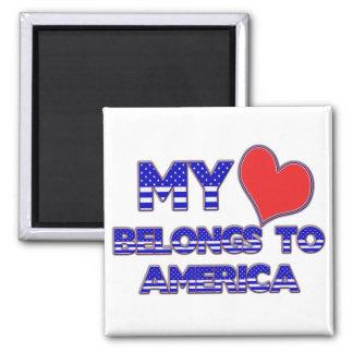 My Heart Belongs To America Magnet