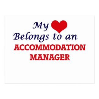 My Heart Belongs to an Accommodation Manager Postcard
