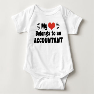 My Heart Belongs To An Accountant Baby Bodysuit