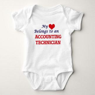 My Heart Belongs to an Accounting Technician Baby Bodysuit