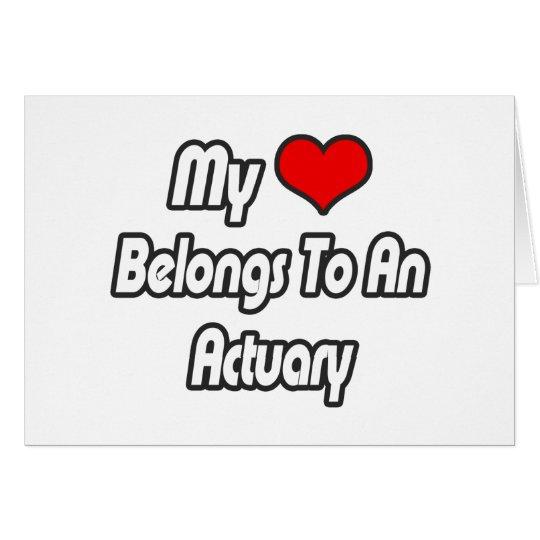 My Heart Belongs To An Actuary