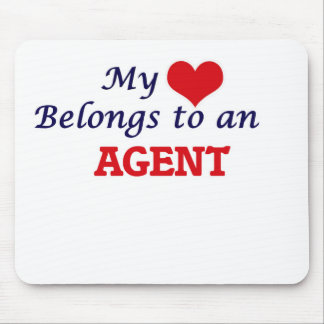 My Heart Belongs to an Agent Mouse Pad