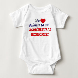 My Heart Belongs to an Agricultural Economist Baby Bodysuit