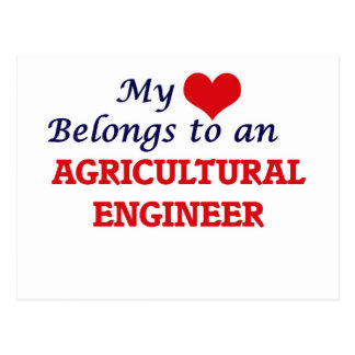 My Heart Belongs to an Agricultural Engineer Postcard
