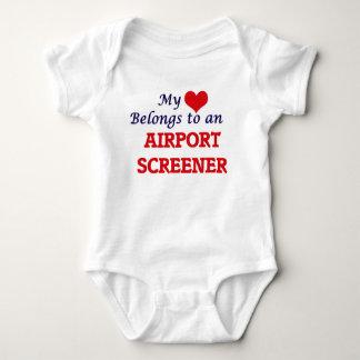 My Heart Belongs to an Airport Screener Baby Bodysuit