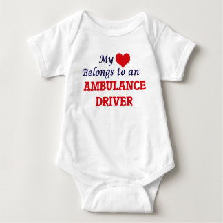 My Heart Belongs to an Ambulance Driver Baby Bodysuit