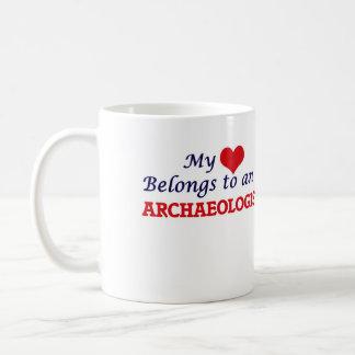 My Heart Belongs to an Archaeologist Coffee Mug