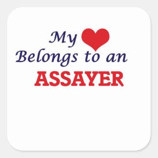 My Heart Belongs to an Assayer Square Sticker