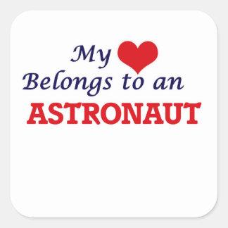 My Heart Belongs to an Astronaut Square Sticker