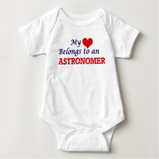 My Heart Belongs to an Astronomer Baby Bodysuit