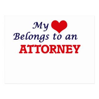 My Heart Belongs to an Attorney Postcard