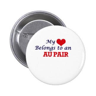My Heart Belongs to an Au Pair 2 Inch Round Button