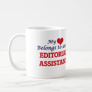 My Heart Belongs to an Editorial Assistant Coffee Mug