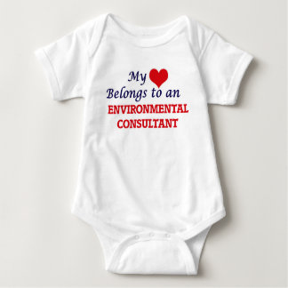 My Heart Belongs to an Environmental Consultant Baby Bodysuit
