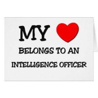 My Heart Belongs To An INTELLIGENCE OFFICER Card