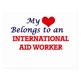 My Heart Belongs to an International Aid Worker Postcard