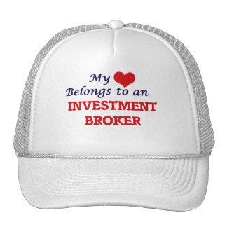 My Heart Belongs to an Investment Broker Trucker Hat