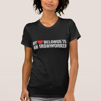 My Heart Belongs To An Ironworker T-shirt