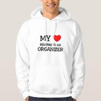 My Heart Belongs To An ORGANIZER Hooded Pullovers