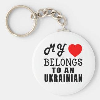 My Heart Belongs To An Ukrainian Keychain