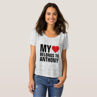 My heart belongs to Anthony T-Shirt
