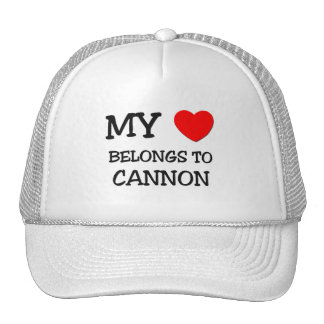 My Heart Belongs to Cannon Trucker Hats