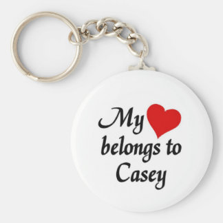 My heart belongs to Casey Keychain