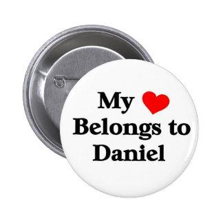 My heart belongs to daniel 2 inch round button