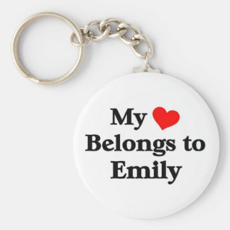My heart belongs to emily keychain