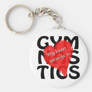 My Heart Belongs To Gymnastics Keychain