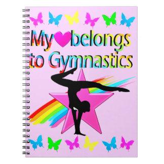 MY HEART BELONGS TO GYMNASTICS PRETTY DESIGN NOTEBOOK