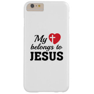 My Heart Belongs To Jesus Barely There iPhone 6 Plus Case