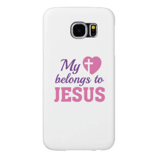 My Heart Belongs To Jesus Samsung Galaxy S6 Cases
