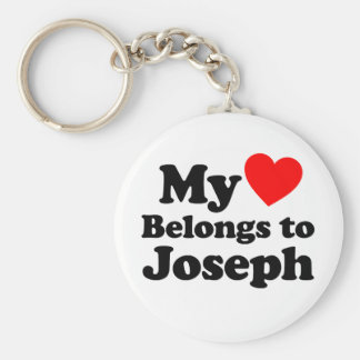 My Heart Belongs to Joseph Keychain