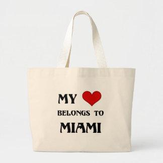 My Heart belongs to Miami Large Tote Bag