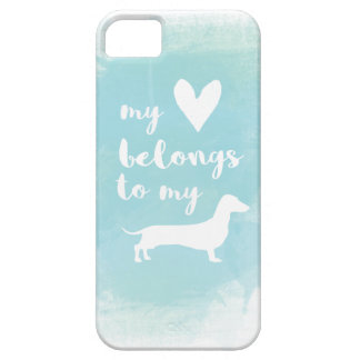 My heart belongs to my dachs calligraphy watercolo case for the iPhone 5