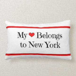 My Heart Belongs to New York Pillow