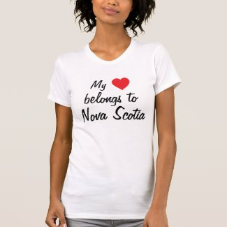 My heart belongs to Nova Scotia T-shirt